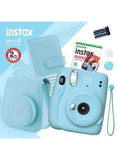 Fujifilm instax mini 11 Mavi Fotoğraf Makinesi ve Hediye Seti 2 Mavi